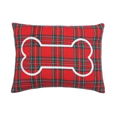 "C&F Home 18"" x 18"" Arlington Plaid Bone Pillow"