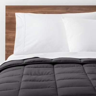 Dark Gray Solid Down Alternative Comforter (King)- Made By Design™