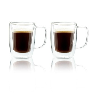Henckels Double-Wall Glassware 2-pc 4.5oz. Double Espresso Mug Set