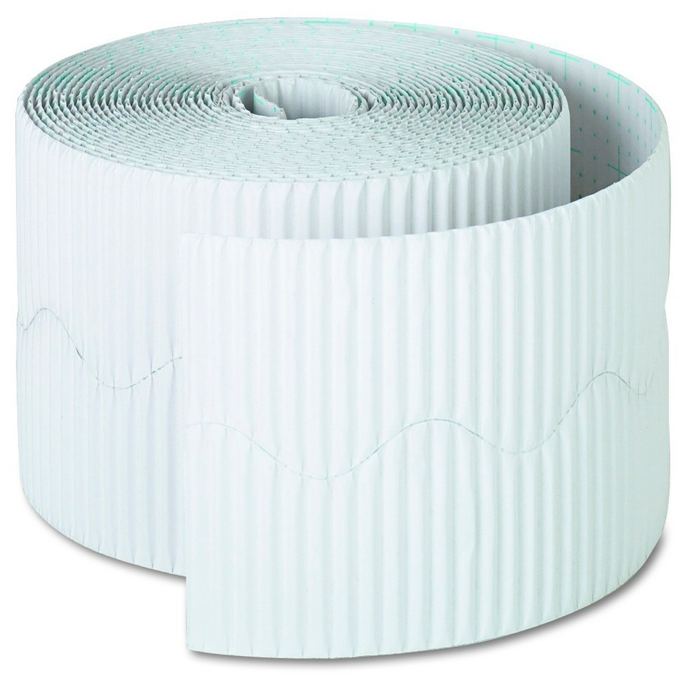 "Image of ""Pacon Bordette Decorative Border, 2 1/4"""" x 50' Roll, White"""
