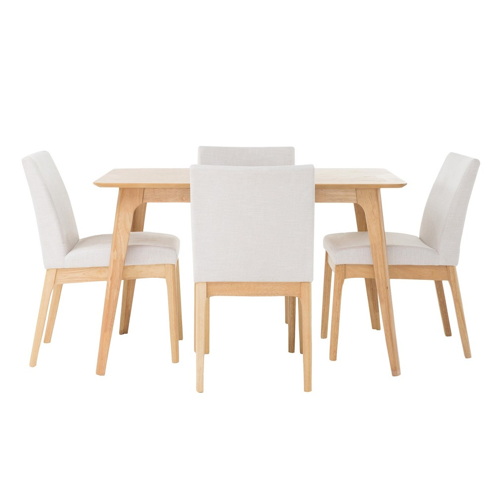 Kwame 50 5pc Dining Set - Light Beige - Christopher Knight Home