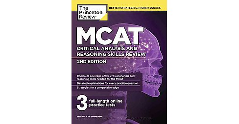 Princeton Review MCAT Critical Analysis and Reasoning Skills Review (Paperback) - image 1 of 1