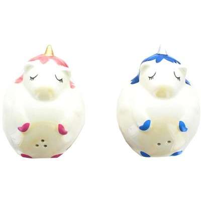 Se7en20 Glitter Galaxy Pink & Blue Unicorn Salt & Pepper Shaker Set