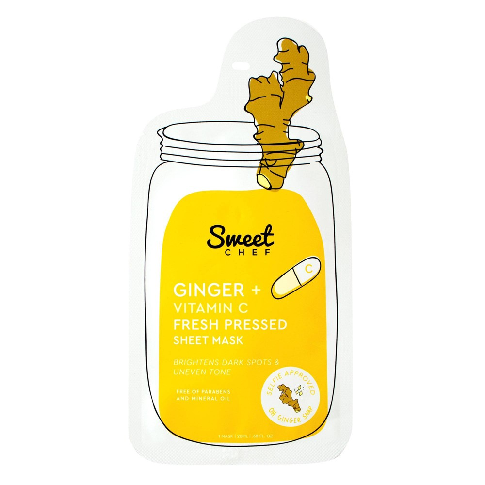 Image of Sweet Chef Ginger Vitamin C Fresh Pressed Sheet Face Mask -.68oz