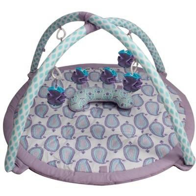 Bacati - Baby Activity Gyms & Playmats (Paisley Isabella, Purple/Lilac/Aqua)