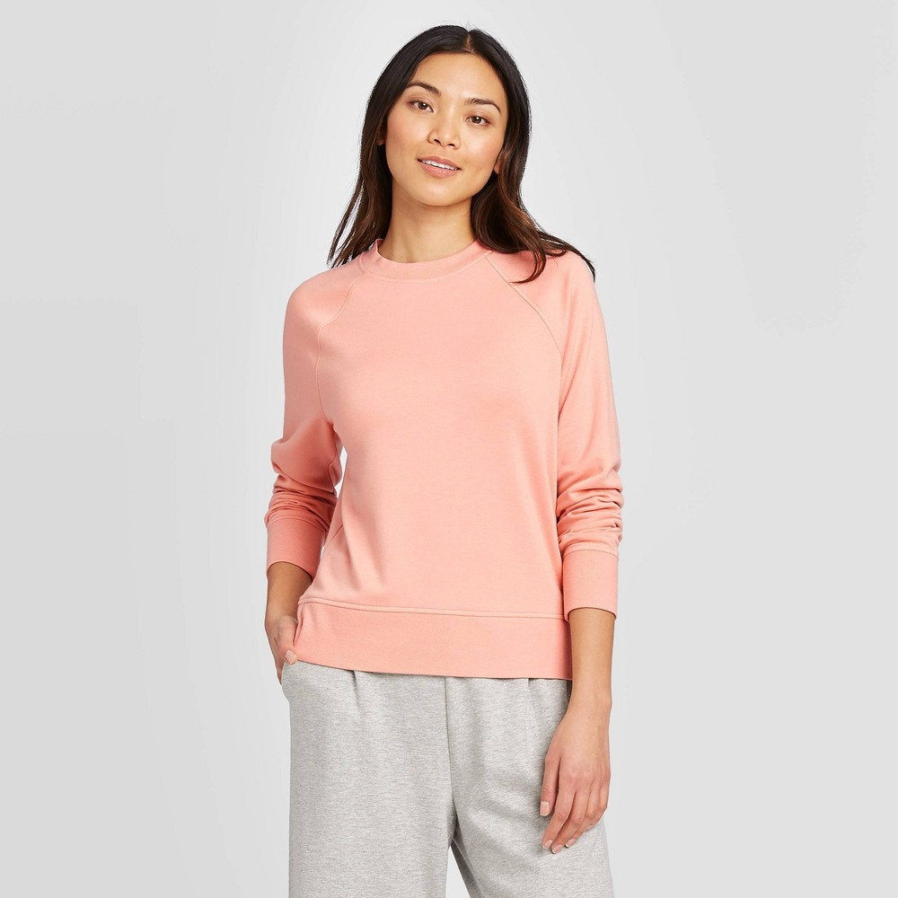 Women's Raglan Sleeve Sweatshirt - A New Day Pink L was $19.99 now $13.99 (30.0% off)