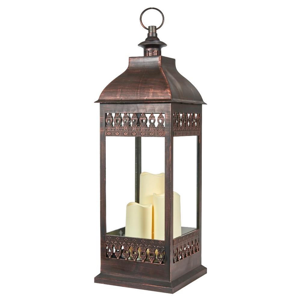 """Image of """"Smart Living San Nicola 28"""""""" Triple LED Candle - Brown"""""""