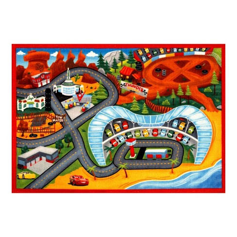 "Disney® Cars® Lightning McQueen® 3 2'7""x3'8"" Game Rug - image 1 of 4"