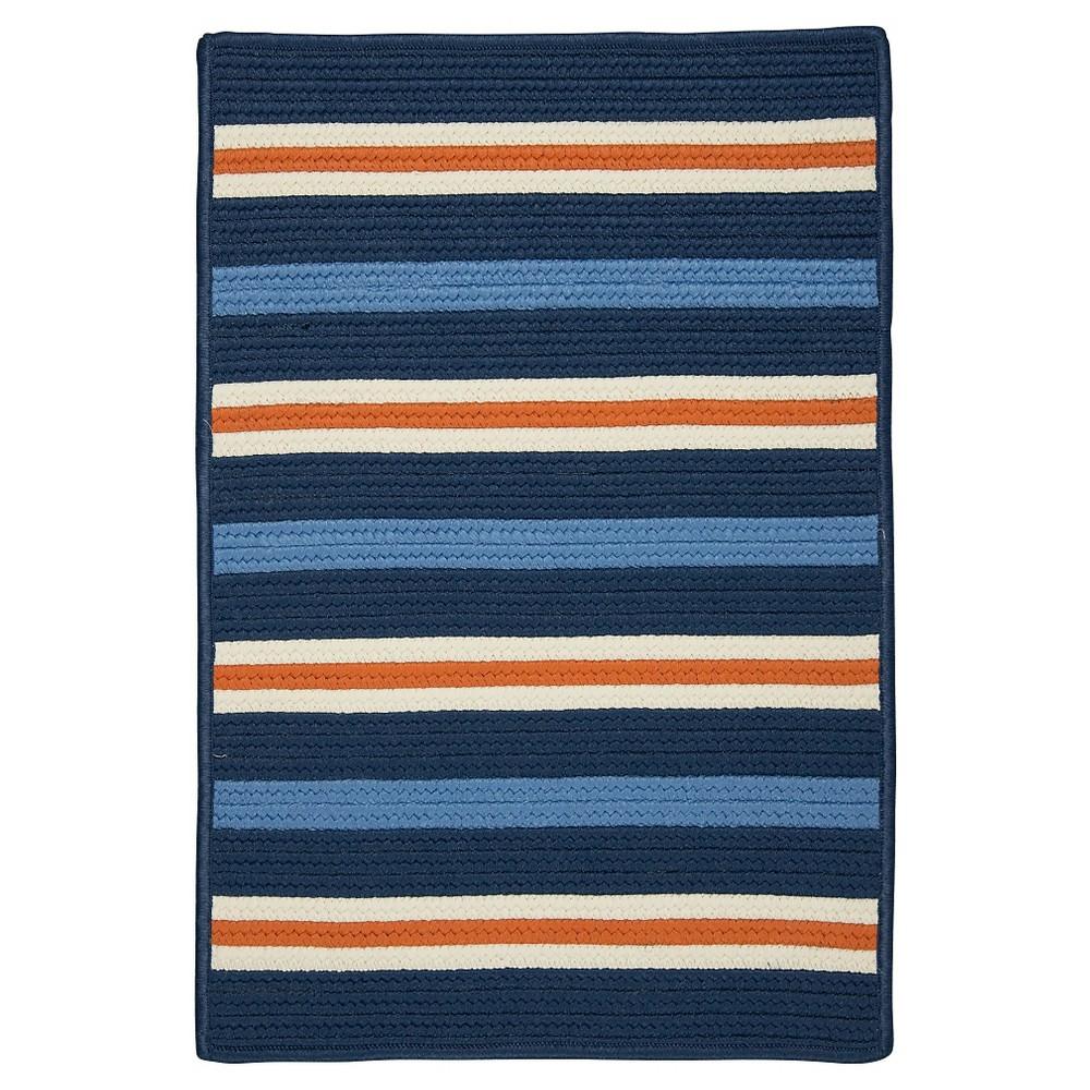 Painter Stripe Braided Area Rug - Set Sail Blue - (5'x7') - Colonial Mills
