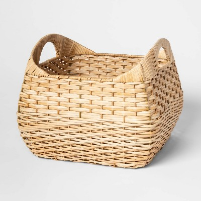Small Basket with Curved Handles Natural 11 x13  - Threshold™
