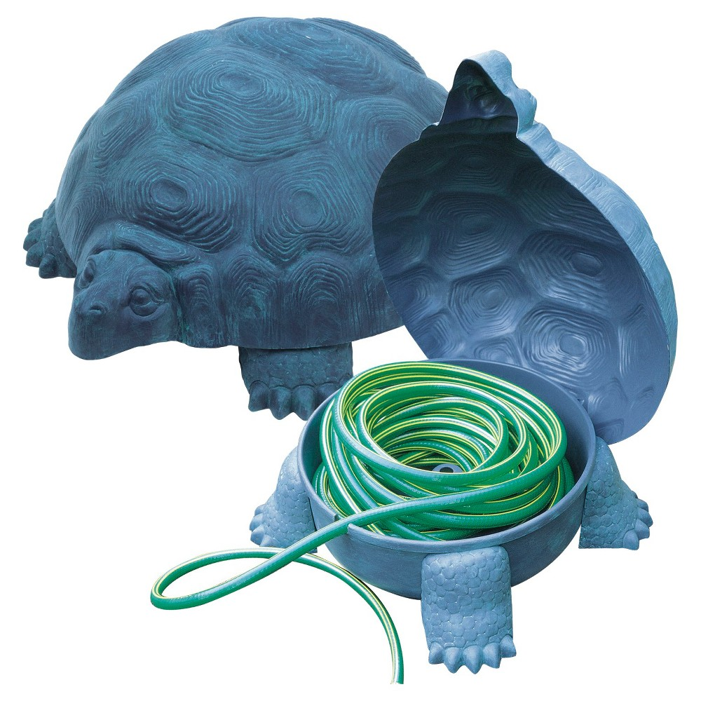 Image of Emsco Darwood Tortoise Deluxe Hose Hider with Hose Reel, Blue