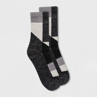 Alaska Knits Women's Wool Blend Patchwork Crew Boot Socks - 4-10