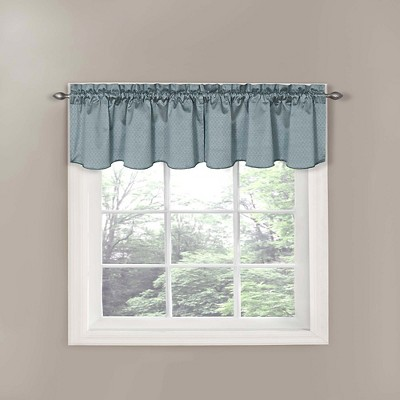 Eclipse Thermaback Canova Blackout Window Valance - River Blue (42 x21 )