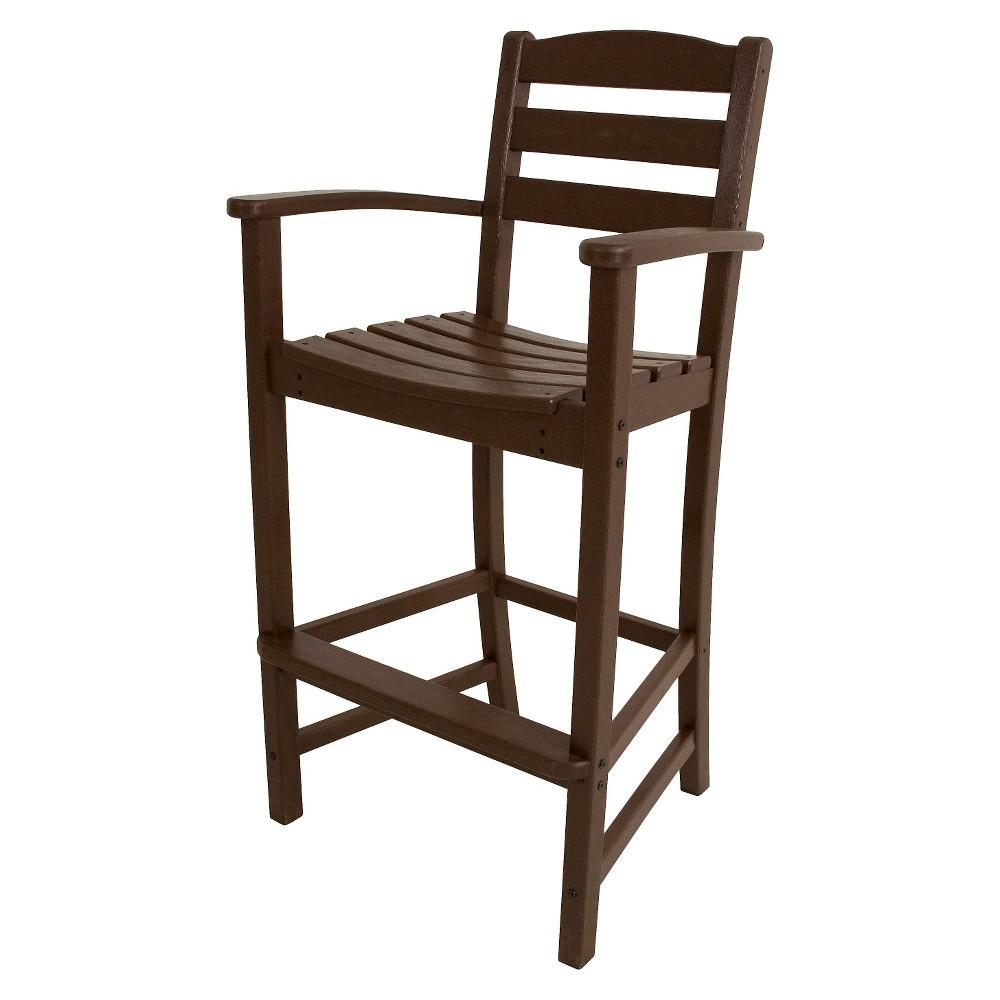 Polywood La Casa Bar Height Patio Dining Arm Chair - Mahogany (Brown)