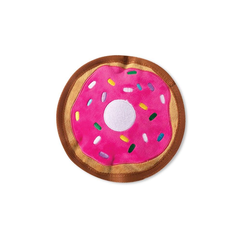 Petshop By Fringe Studio Sprinkle Donut Durable Plush Dog Toy