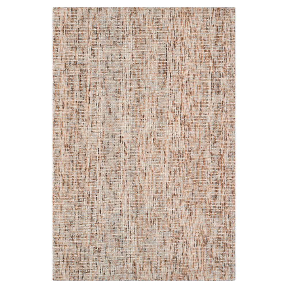 Beige/Rust (Beige/Red) Abstract Tufted Area Rug - (4'X6') - Safavieh