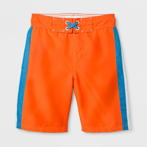 c7d2c3c5e3 Boys' Racing Stripe Swim Trunks - Cat & Jack™ Orange : Target