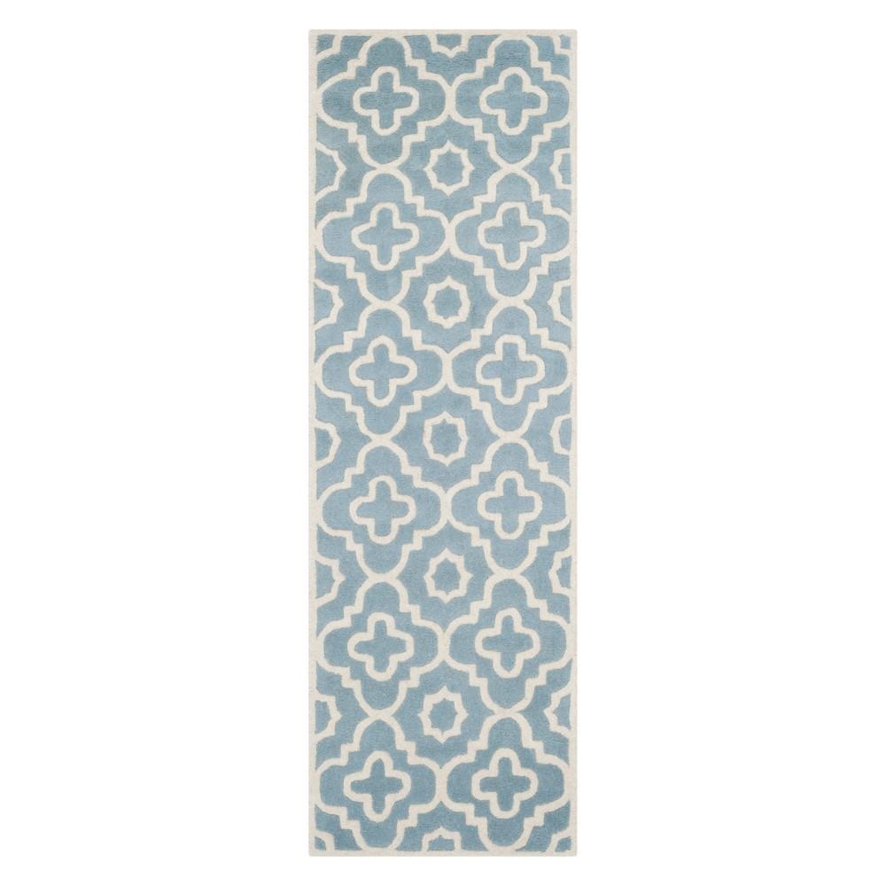 23X7 Geometric Runner Blue/Ivory - Safavieh Price