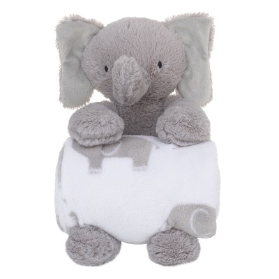 Little Love by NoJo Plush & Blanket - Elephant - Gray