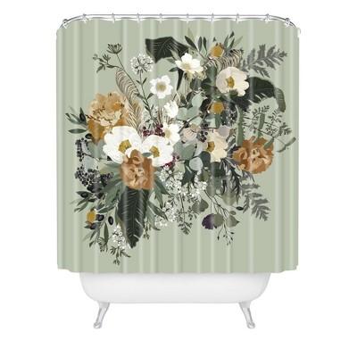 Iveta Abolina Paloma Midday Shower Curtain Green - Deny Designs
