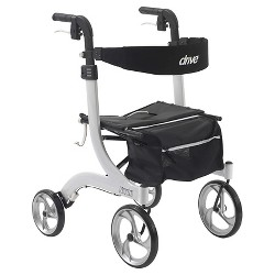 Drive Medical Nitro Euro Style Walker Rollator, White