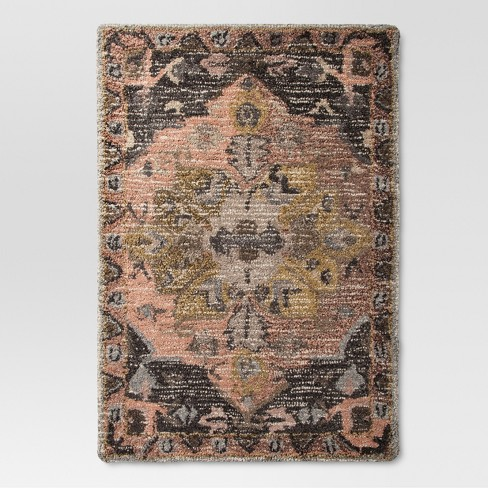 Damask Tufted Vintage Wool Rug Threshold Target