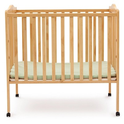 Delta Children Folding Portable Mini Baby Crib with 1.5'' Mattress, Greenguard Gold Certified