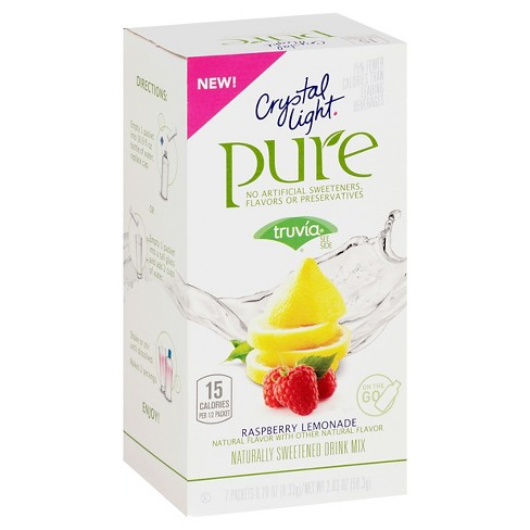 Crystal Light Pure Raspberry Lemonade - 7pk/0.29oz Pouches - image 1 of 1