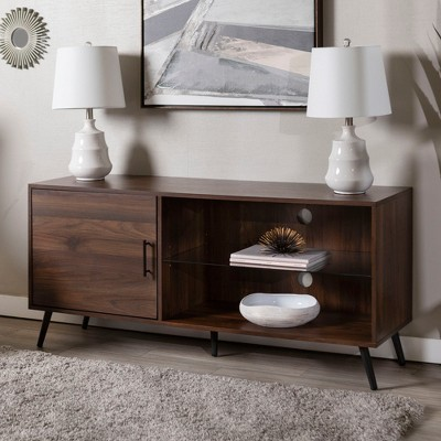 "Single Door Mid-Century Modern TV Stand For TVs Up To 58"" - Saracina Home : Target"