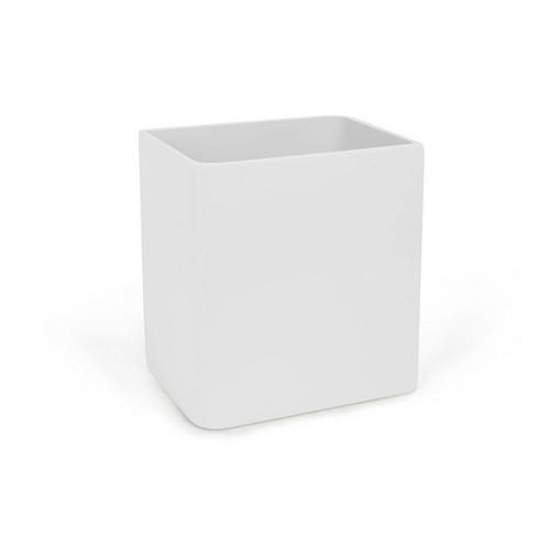 Lacquer Wastebasket White - Cassadecor - image 1 of 3