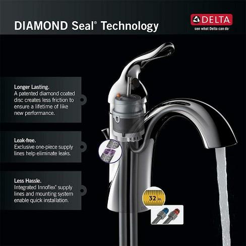 Delta Faucet 15938T-DST Lahara Single Hole Bathroom Faucet