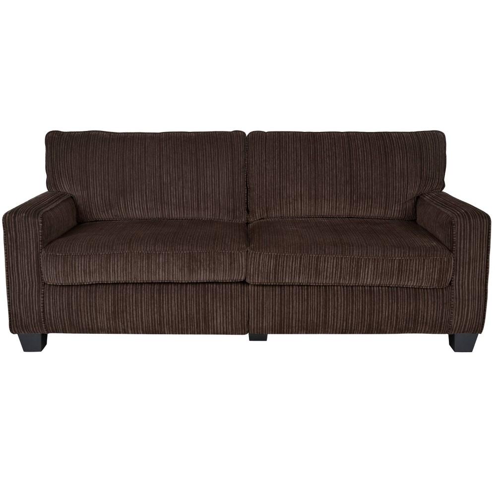 Amazing Serta Rta Palisades Collection 78 Sofa In Riverfront Brown Machost Co Dining Chair Design Ideas Machostcouk