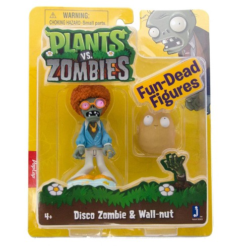 plants vs zombies 3 figure 2 pack disco zombie target
