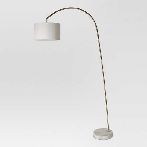 Shaded Arc with Marble Base Floor Lamp Brass - Project 62™ - image 1 of 5
