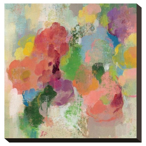 Colorful Garden Iii By Silvia Vassileva Stretched Canvas Print - Art.Com - image 1 of 2