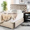 Chester Tufted Velvet King Bed - Safavieh - image 2 of 4
