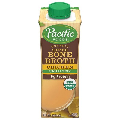 Pacific Foods Organic Sipping Unsalted Chicken Bone Broth - 8oz