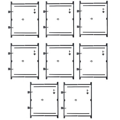 "Adjust-A-Gate Steel Frame Gate Kit, 36""-60"" Wide Opening Up To 7' High (8 Pack)"