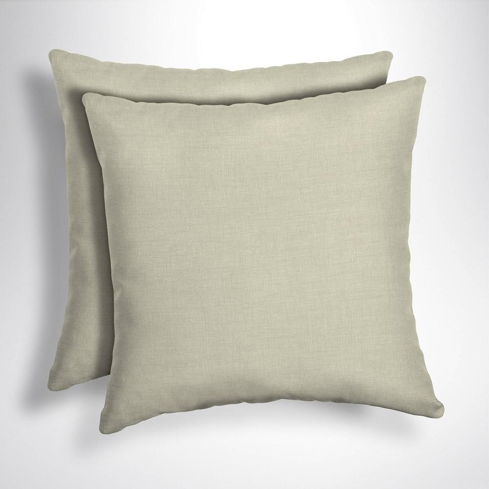 2pk Leala Texture Square Outdoor Throw Pillows Tan - Arden Selections