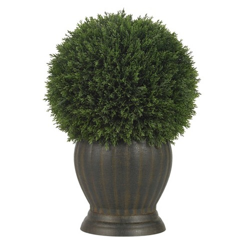 Nearly Natural Cedar Ball Topiary Silk Plant - image 1 of 2