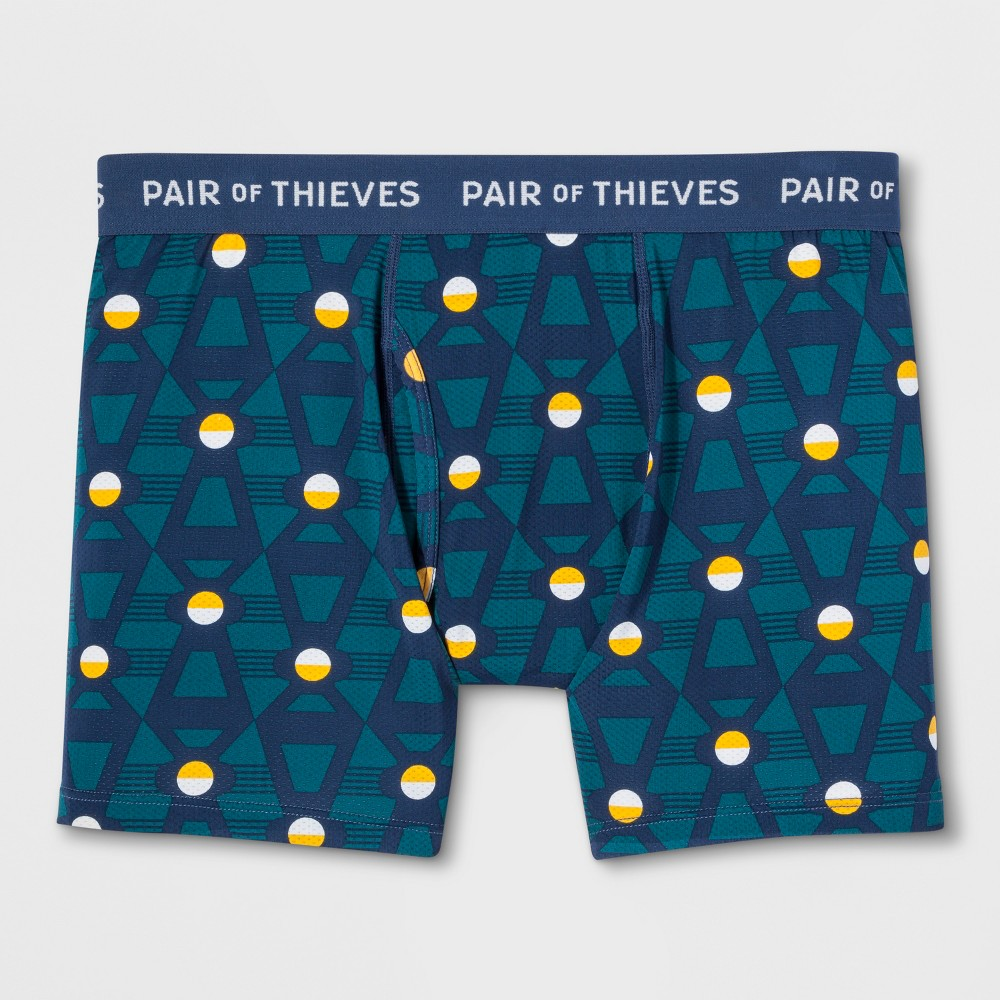 Pair of Thieves Men's SF Downforce Boxer Briefs - Teal M, Blue