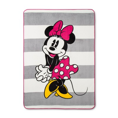 Mickey Mouse & Friends Twin Minnie Mouse Bed Blanket Pink/White