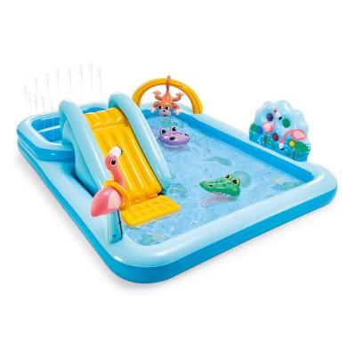 "Intex 96"" x 78"" x 28"" Inflatable Jungle Adventure Play Center Spray Kiddie Pool"
