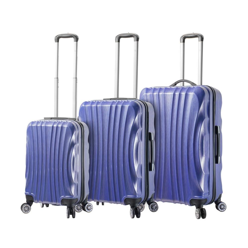 Image of Mia Viaggi ITALY Bari 3pc Hardside Luggage Set - Pulp Blue