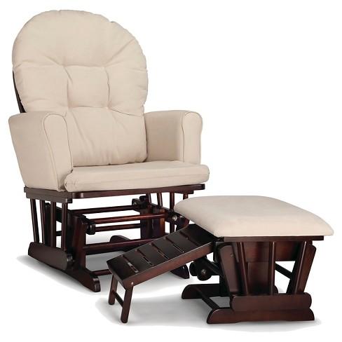 Graco Parker Semi-Upholstered Glider and Nursing Ottoman - Espresso/Beige - image 1 of 4
