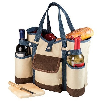 Picnic Time Wine Country Tote - Tan