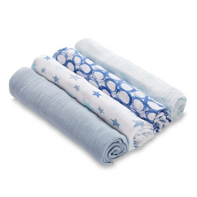 Aden by Aden + Anais Swaddle Blankets - 4pk - Blue Stars
