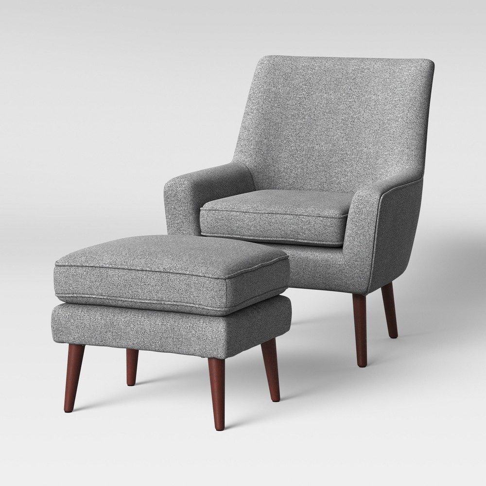 2pc Durell Chair and Ottoman Gray - Project 62