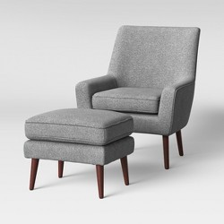 2pc Durell Chair and Ottoman Gray - Project 62™