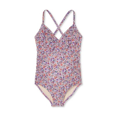 Maternity Floral Print Flounce Neck One Piece Swimsuit - Isabel Maternity by Ingrid & Isabel™